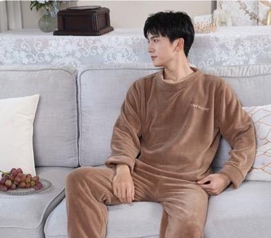 Pyjama cocooning en molleton de corail pour homme