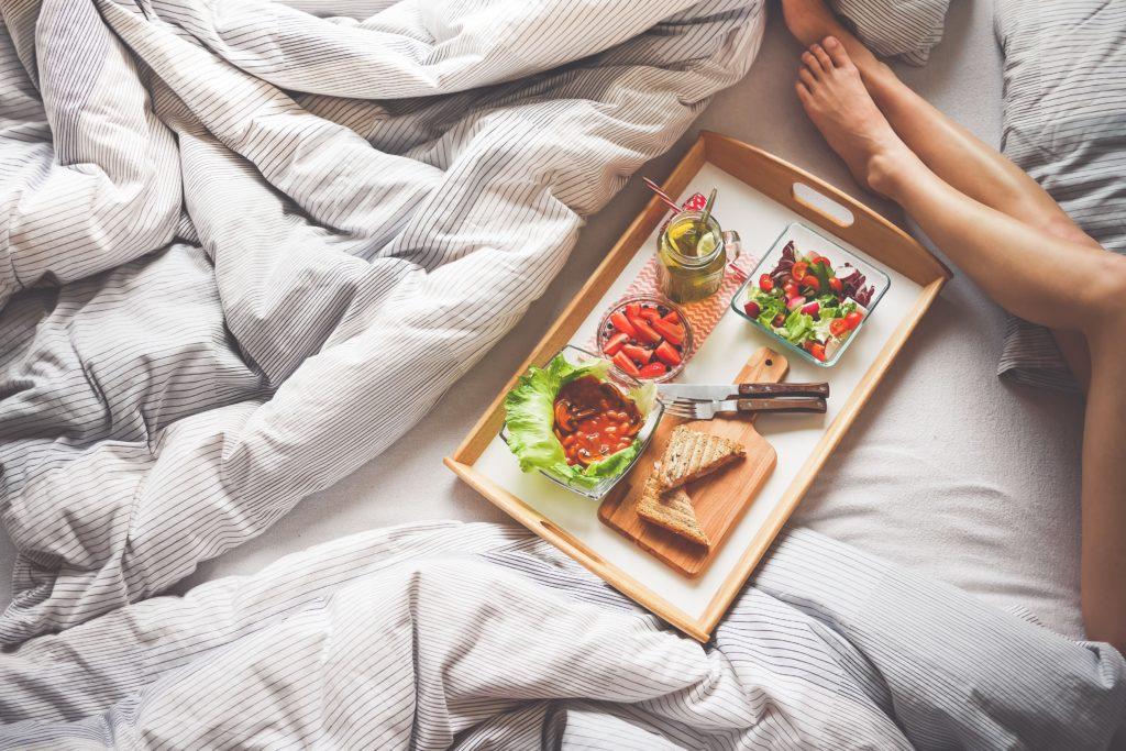 Housse de couette petit déjeuner au lit