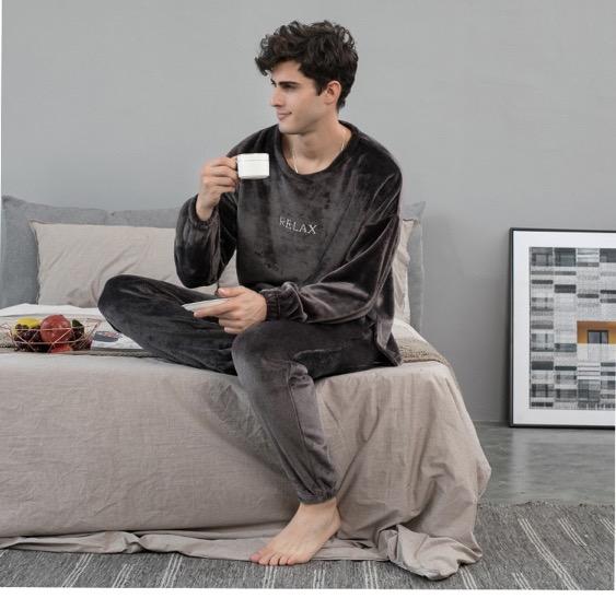 "Pyjama cocooning tout doux ""relax"" pour homme"