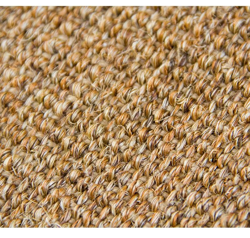 Petit tapis nordique rectangle en sisal