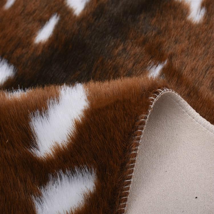Tapis imprimé peau de cerf