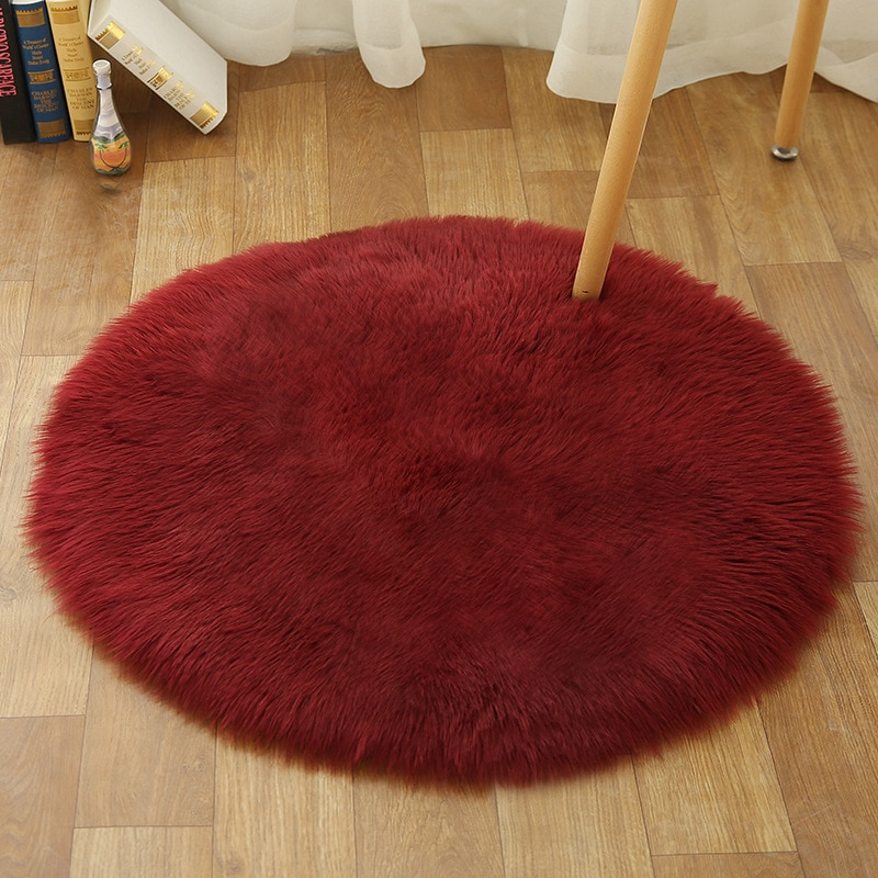 Petit tapis coloré circulaire et tout doux