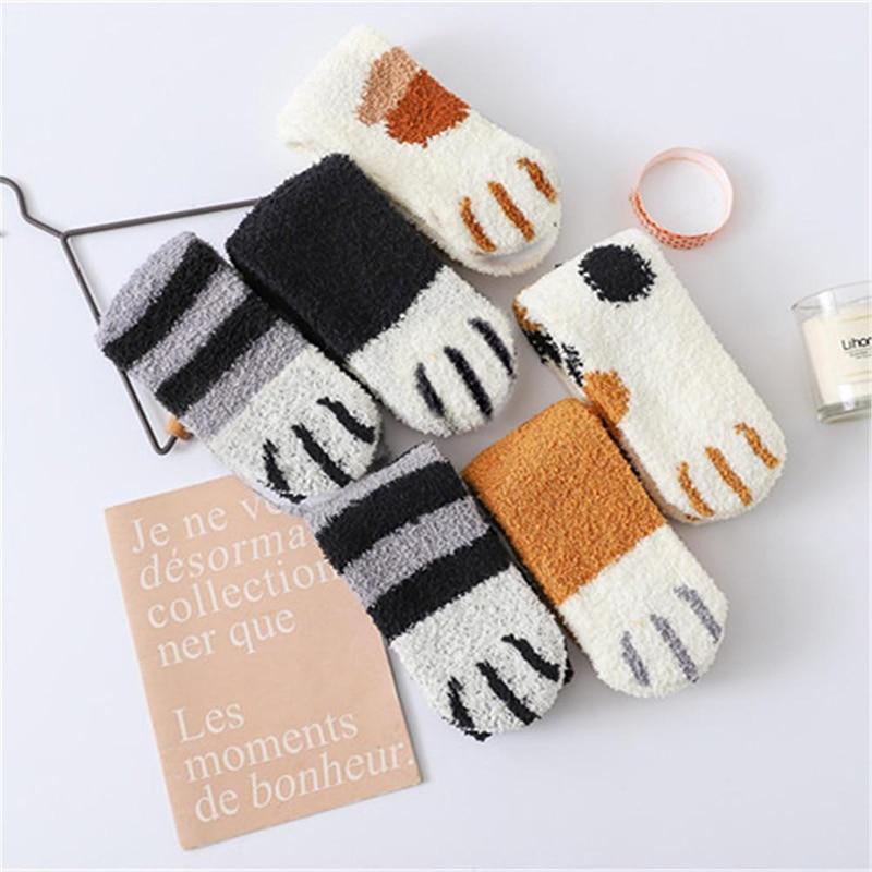 Chaussettes pattes de chat