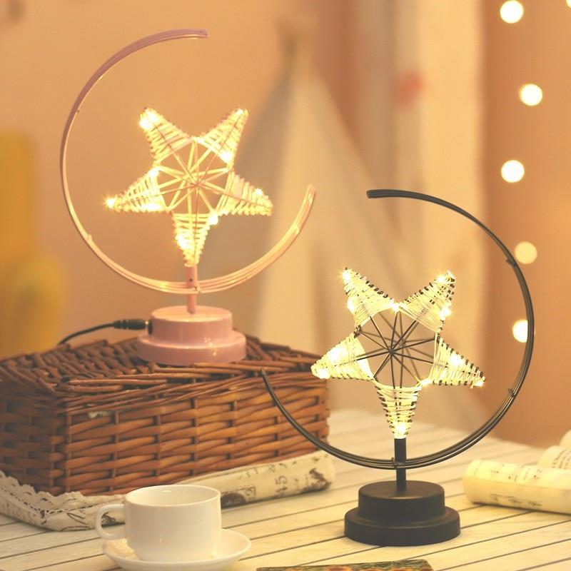 Lampe de table cocooning en forme d'étoile