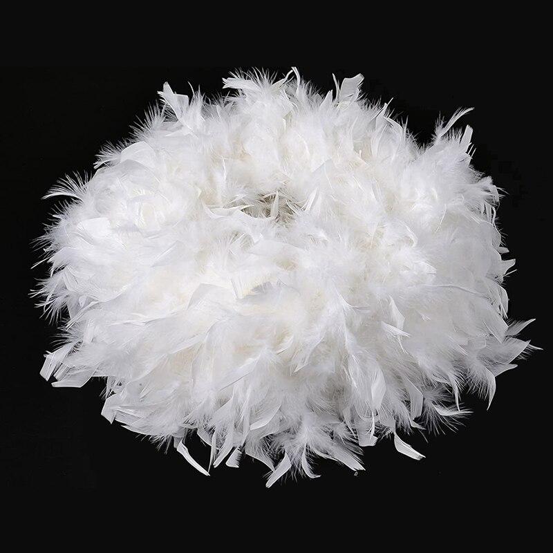 Abat-jour en plumes blanches pour tous types de lampes