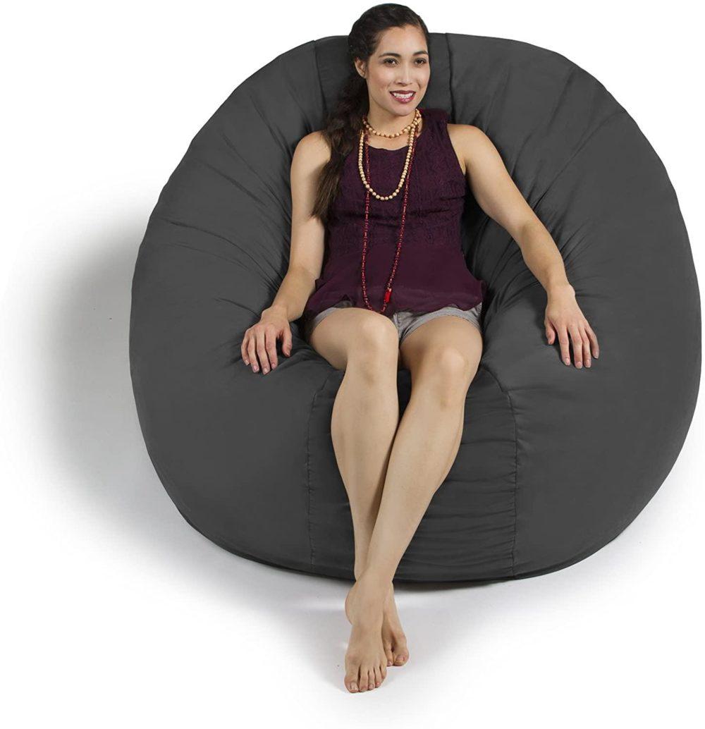 Pouf géant cocooning en microfibre super confort