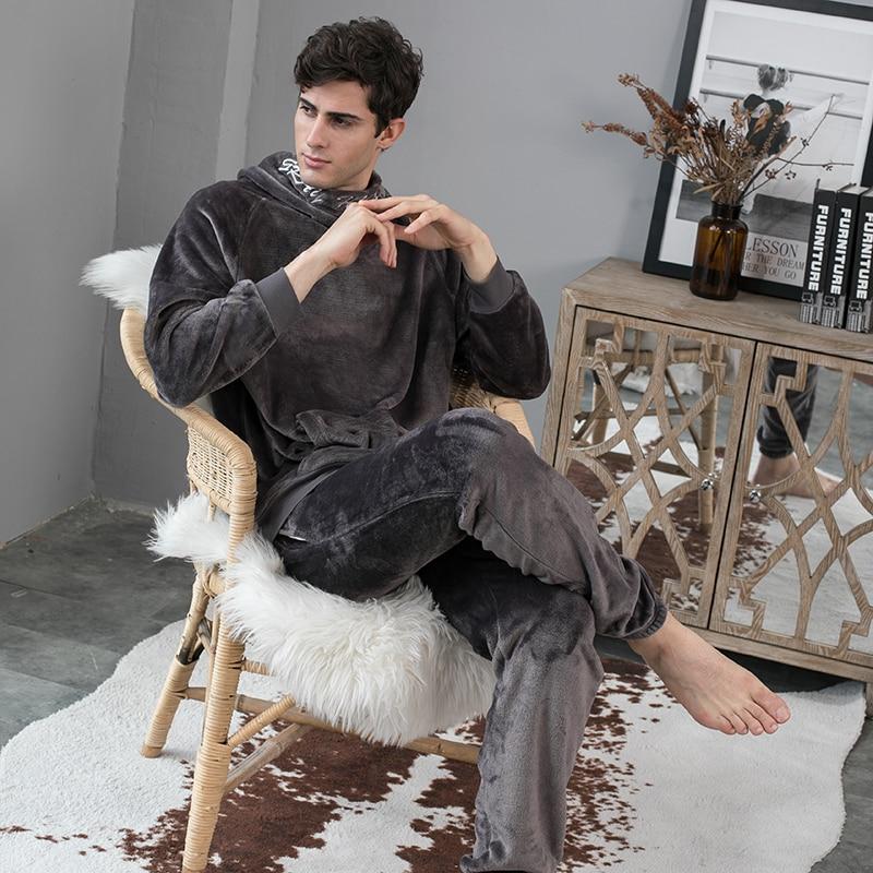 Pyjama cocooning sobre à capuche pour homme