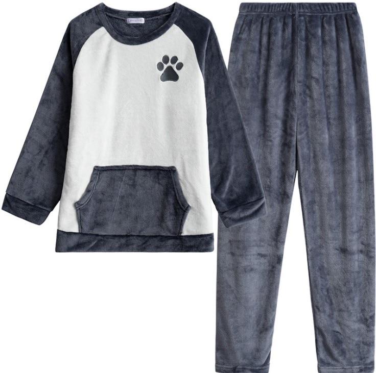 Adorable pyjama imprimé patte d'ourson pour homme
