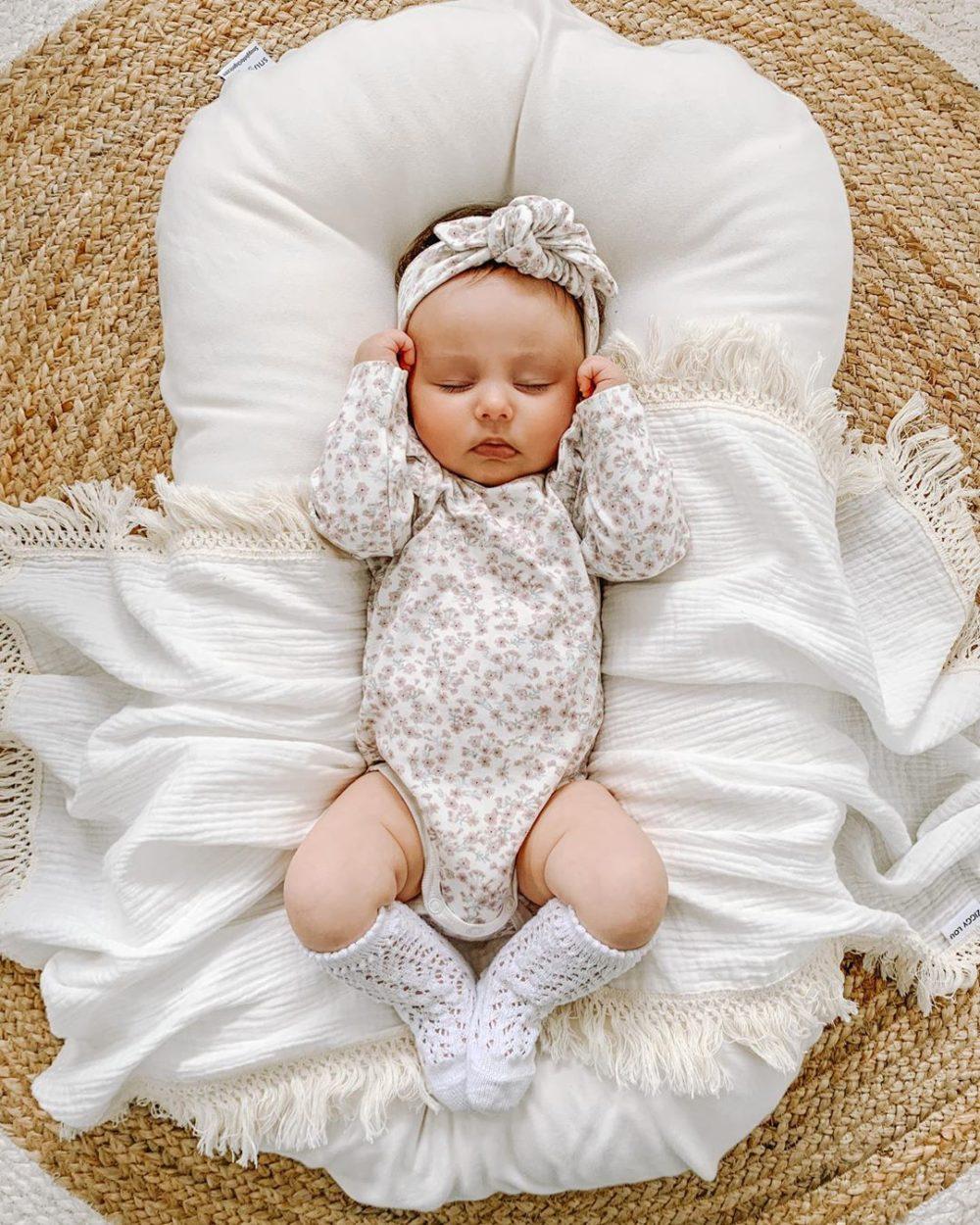 Couffin rembourré en coton pour bébé