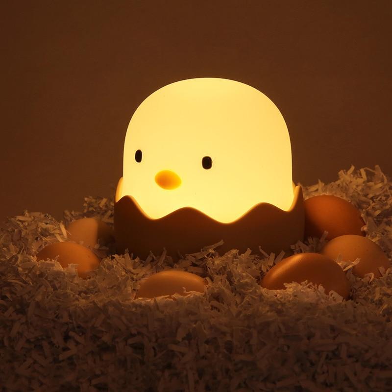 Veilleuse bébé en forme de coquille d'œuf
