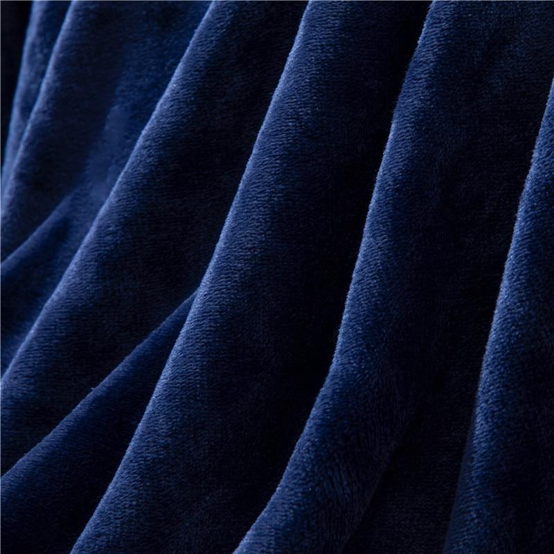 Plaid molletonné tout doux bleu