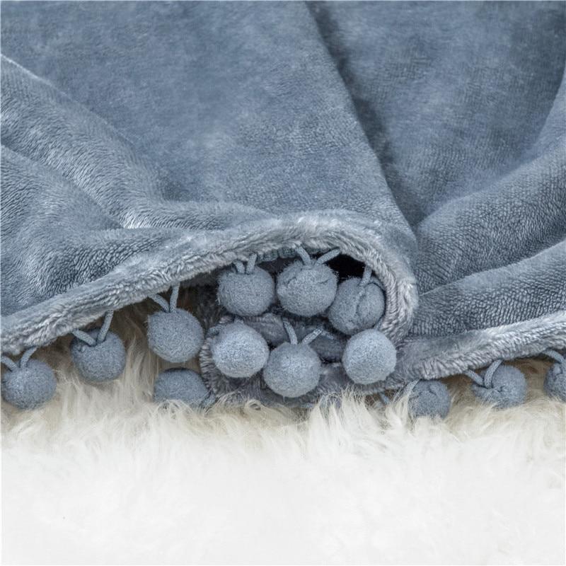 Plaid molletonné tout doux gris