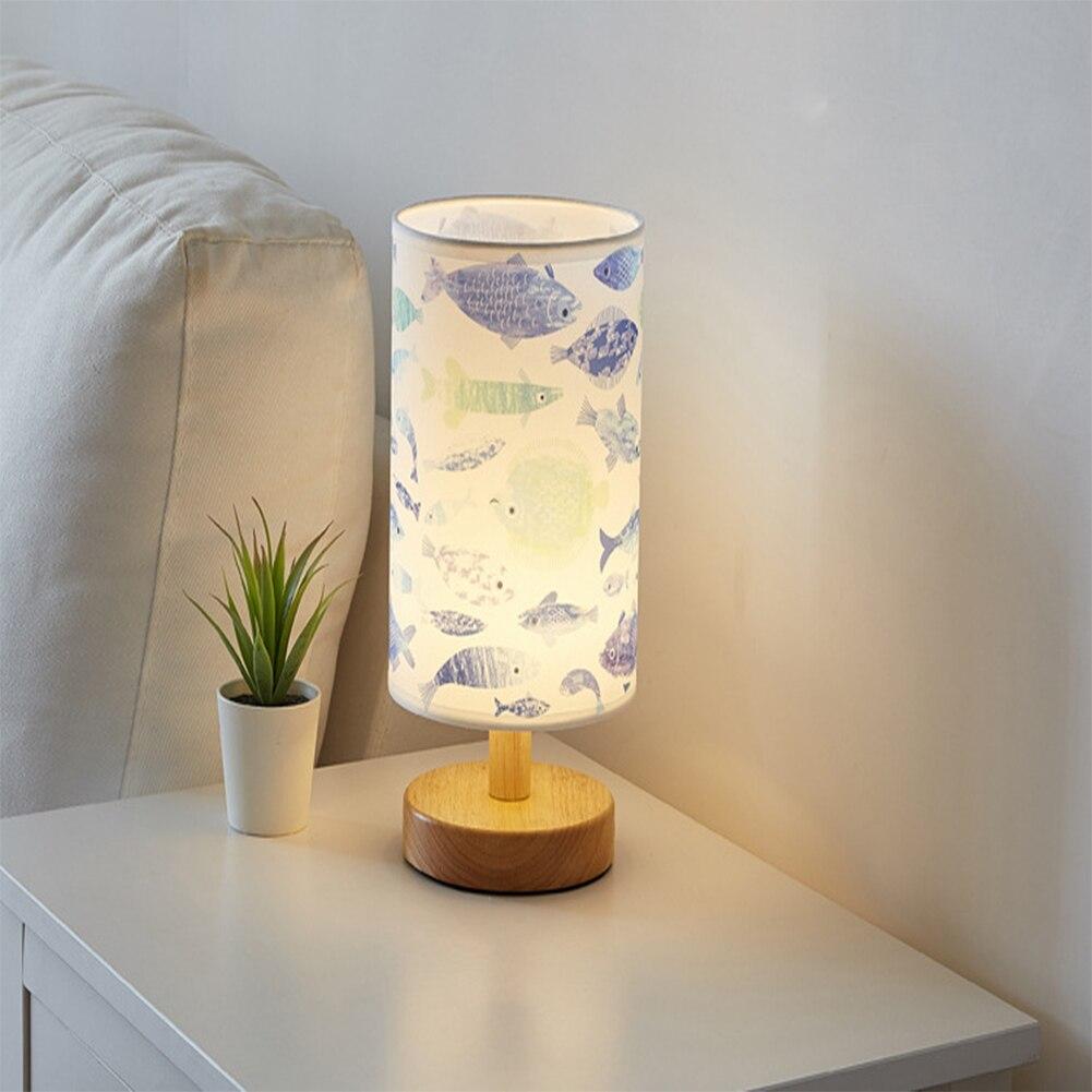Lampe de chevet lumière chaleureuse ombre en lin