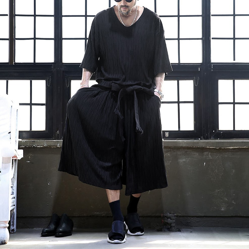 Ensemble pour homme ample style japonais