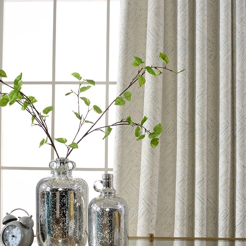 Rideaux en chenille style minimaliste blanc