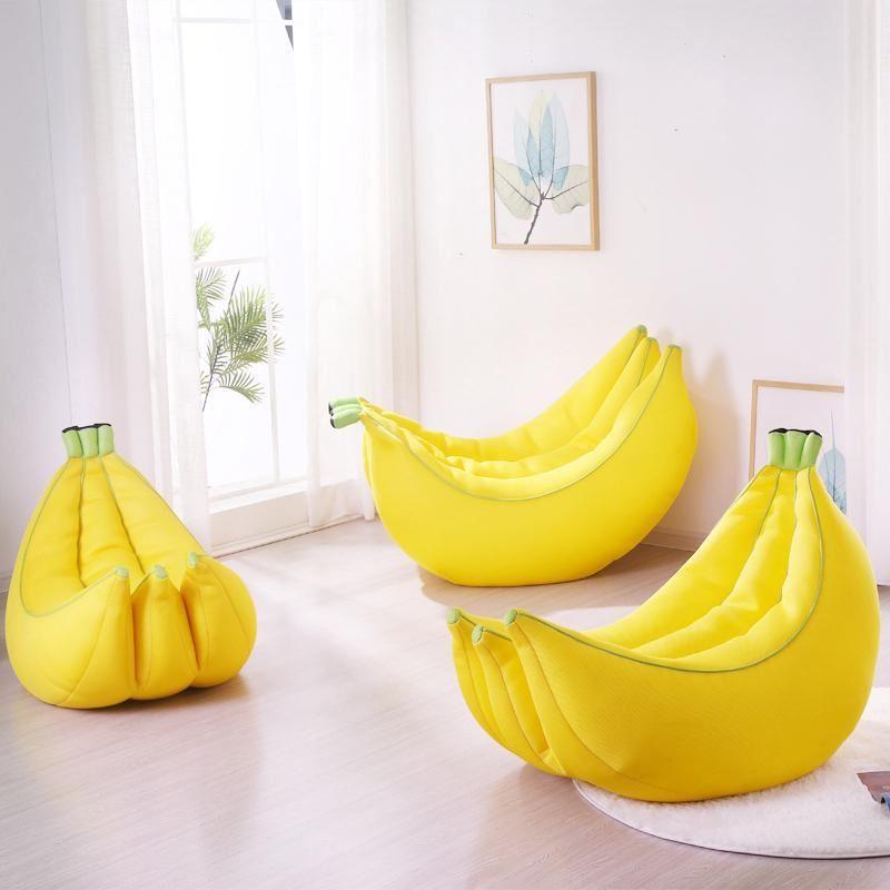 Pouf en forme de banane