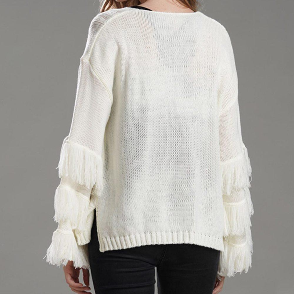 Pull bohème en tricot
