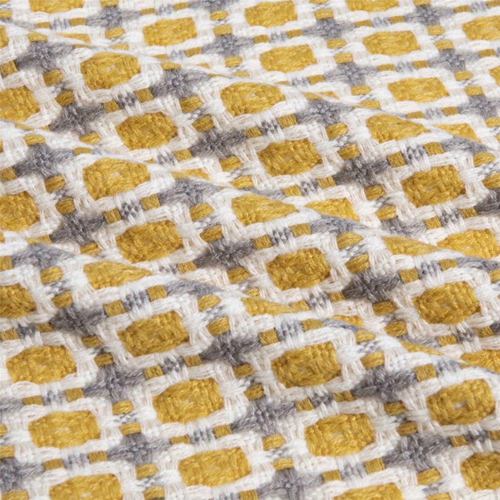 Couverture tricotée laine à carreaux