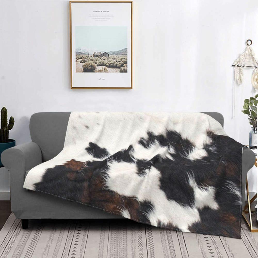 Plaid effet peau de vache