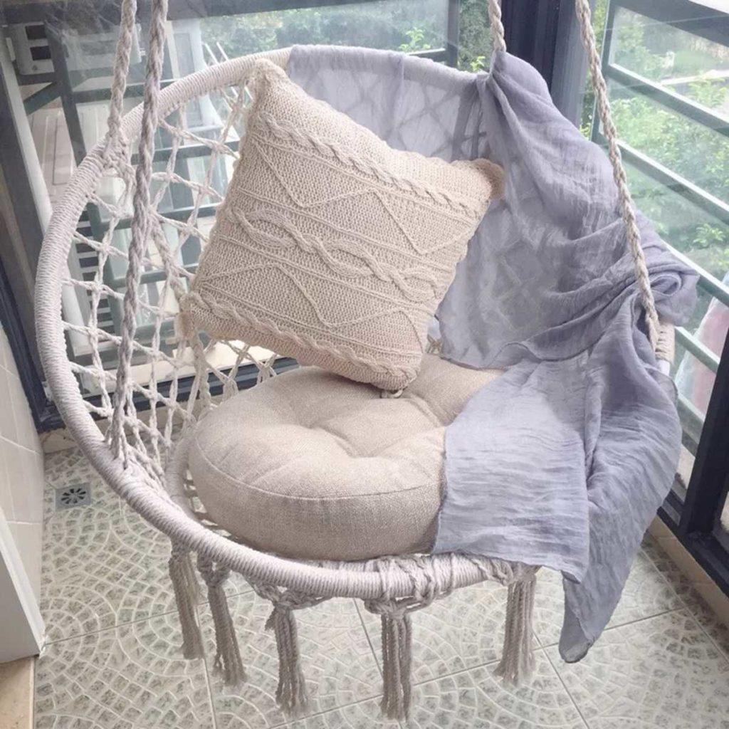 Chaise suspendue nordique en corde de coton