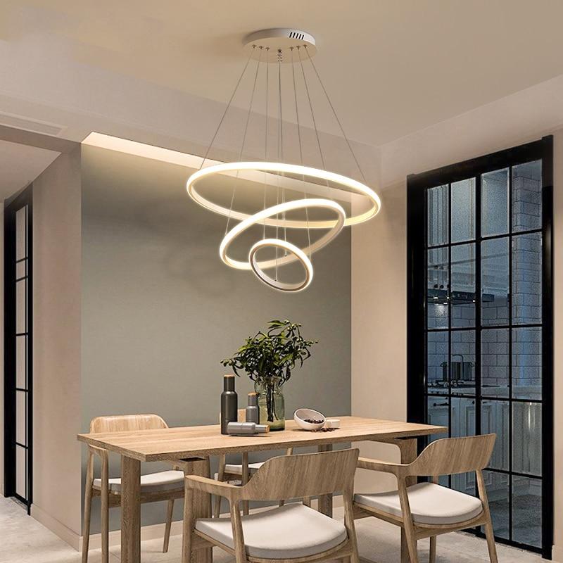 Plafonnier lampe led suspendu circulaire