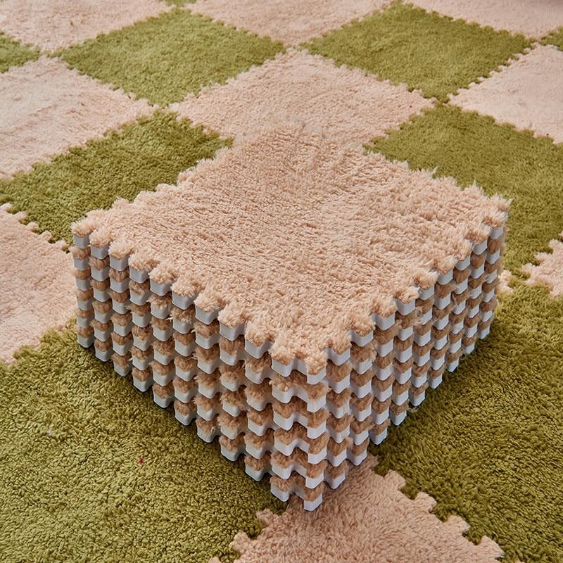 Carré de tapis doux, modulable et antidérapant