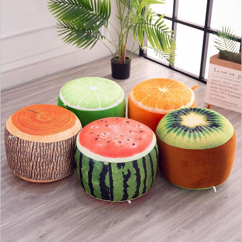 Pouf gonflable en forme de fruit