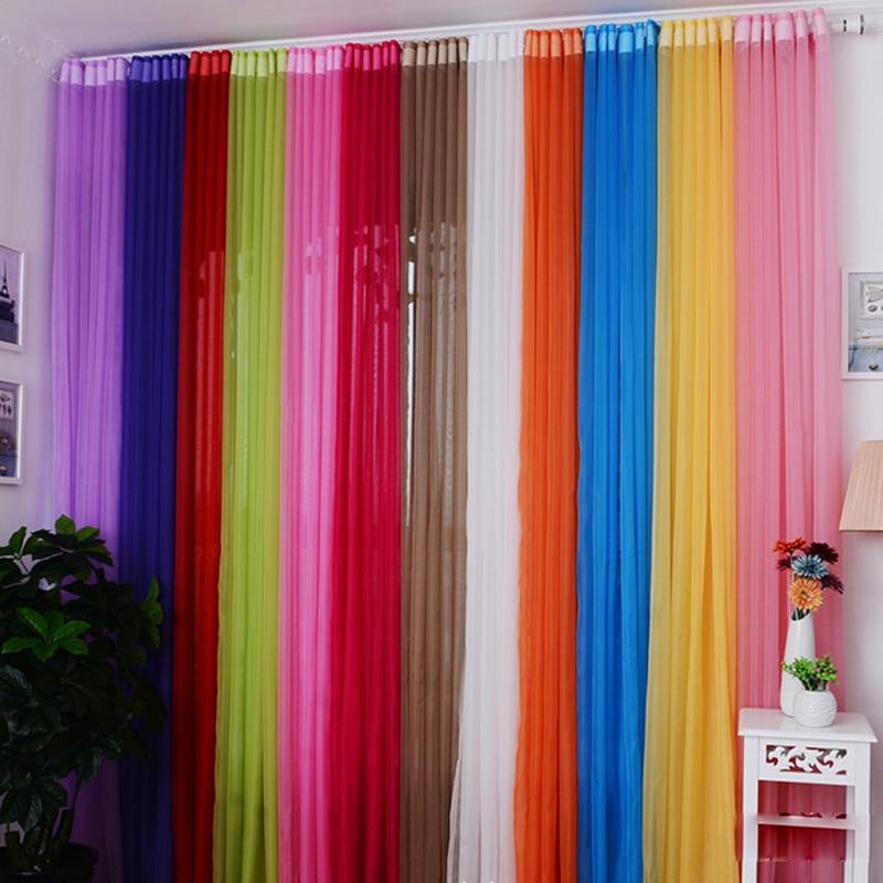 Rideau transparent en tulle de toutes les couleurs
