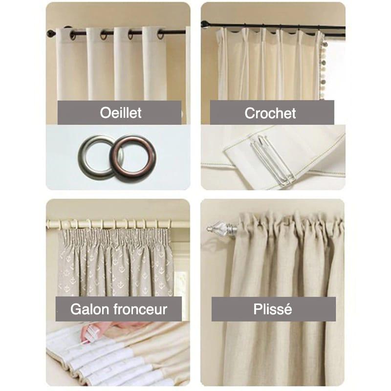 Rideau design et occultant pour salon chambre à coucher ou salle à manger